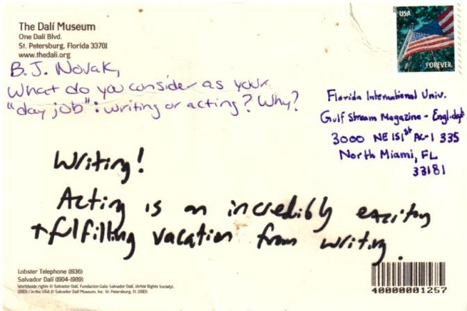 Novak Postcard BACK