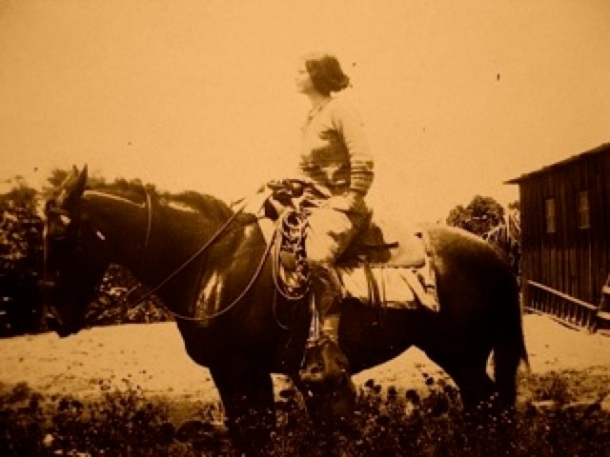 "Brownie (Julia Gilman) on Horseback"" photo credit Kirby Wright"