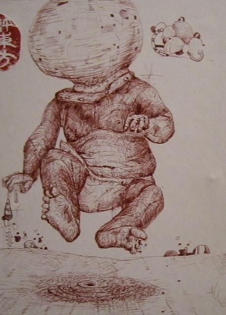 Pen Drawing by Enrique Quinteros
