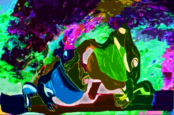 """Neon Fibbet"" by Chrystal Berche"