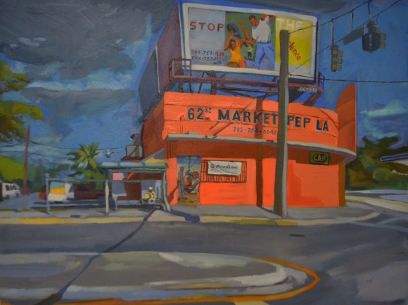 1 NW 62nd St, Miami, FL 33150 Acrylic on Canvas 30 x 40 2014